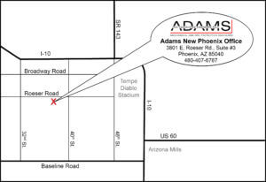 Adams Phoenix Office Map
