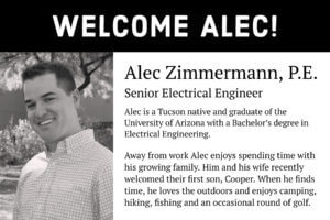 Welcome Alec Zimmermann